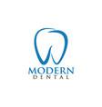 modern dental logo design template vector image vector image