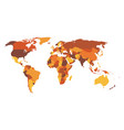 multi-colored blank political map of world vector image vector image