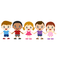 multicultural children hand in hand vector image