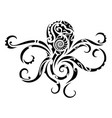 octopus tribal tattoo vector image vector image