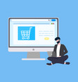 online internet shopping and technical support vector image