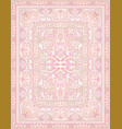 pink ornamental carpet vector image vector image