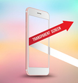 Pink smartphone mockups like iPhone vector image vector image