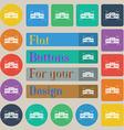 Radio cassette player icon sign Set of twenty vector image