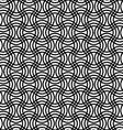 Repeating black white curved grid pattern vector image vector image