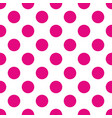 seamless pattern with pink polka dots on a white vector image vector image