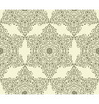 seamless vintage highly detailed hexagon pattern vector image vector image