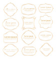 set of dividers vintage frames vintage labels vector image