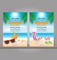set summer beach party design template vector image
