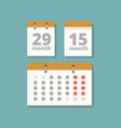 set wall calendars in flat style vector image vector image