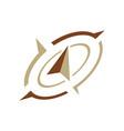 shear flat creative compass logo concept design vector image vector image