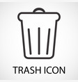 simple trash icon vector image vector image
