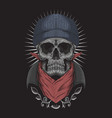 skull bandana vector image vector image