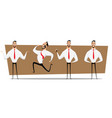 small set of businessman design on process vector image vector image
