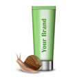 snail hand cream mockup realistic style vector image