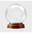 Snow globe Big white transparent glass sphere on vector image