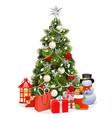 snowy christmas pine tree vector image vector image