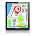 Tablet PC with Map vector image vector image