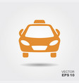 taxi car icon vector image vector image