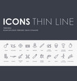 terrorism thin line icons vector image