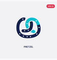 two color pretzel icon from food concept isolated vector image