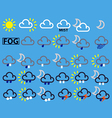 weather map symbols vector image vector image