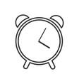 web line icon alarm clock vector image
