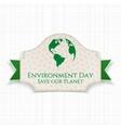 World Environment Day awareness Badge and Ribbon vector image