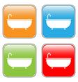 Bathtub icons set vector image