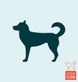 dog icon isolated chinese symbol new 2018 year vector image