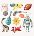 Set of toys for children vector image