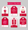 a set of branded business cards for valentine s vector image