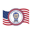 abraham lincolns birthday waving flag united vector image