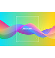 abstract wavy dynamic colorful fluid background vector image
