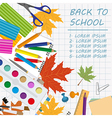 Back to school Stationary graphic template vector image vector image