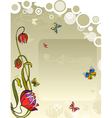 Background Flower Butterfly vector image vector image