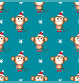 background with monkeys and snowflakes vector image vector image