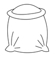 Bag full of flour icon outline style vector image vector image