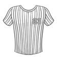Baseball t-shirt icon black monochrome style vector image vector image