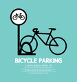 Bicycle Parking Sign vector image vector image