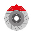 brake disc auto spare part mechanic system vector image vector image