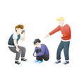 bullying or humiliation at school or college vector image vector image