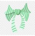 Cartoon bow icon vector image vector image