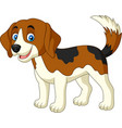 cartoon happy little dog vector image