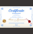 certificate or diploma retro design template 03 vector image vector image