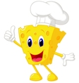 Cheese chef cartoon vector image vector image