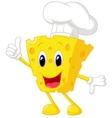 Cheese chef cartoon vector image vector image