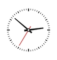 Clock dial on a white background