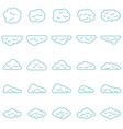 clouds set in line style vector image