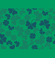 clover leaves seamless pattern st patricks day vector image vector image